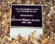 burial memory garden plaque